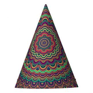 Gorro De Fiesta Mandala oval psicodélica