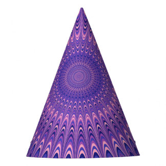 Gorro De Fiesta Mandala púrpura