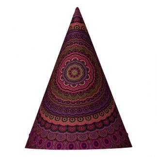 Gorro De Fiesta Mandala púrpura oscura