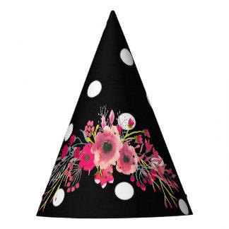 Gorro De Fiesta Moda moderna del encanto negro de los lunares de