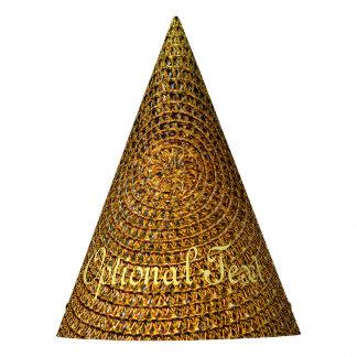 Gorro De Fiesta Modelo espiral del oro