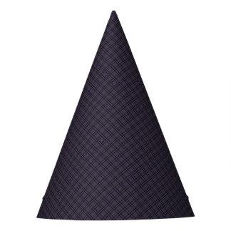 Gorro De Fiesta Modelo negro de la tela escocesa