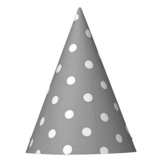 Gorro De Fiesta Neutral moderno del encanto del lunar gris gris