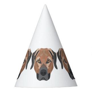 Gorro De Fiesta Perro Brown Labrador del ilustracion