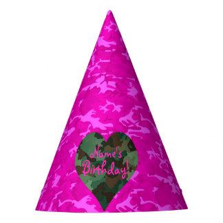 Gorro De Fiesta Personalice - Camo rosado