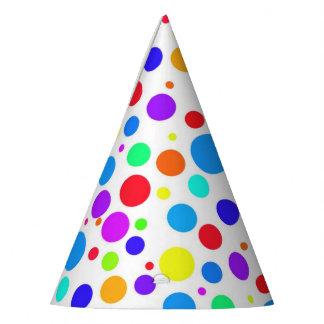 Gorro De Fiesta Puntos coloreados multi de la diversión