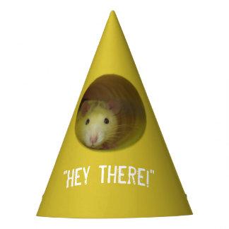 Gorro De Fiesta Rata linda en animal divertido del agujero