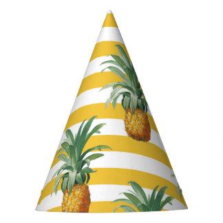 Gorro De Fiesta rayas amarillas de los pinepples