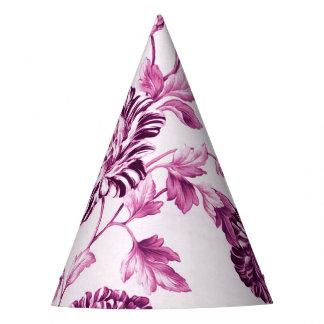 Gorro De Fiesta Rosa Toile floral No.3 del agua color de rosa