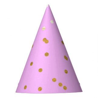Gorro De Fiesta Rosa y encanto moderno del encanto de los puntos