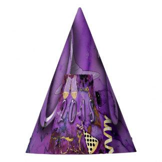 Gorro De Fiesta Vaya de fiesta oro púrpura de Noche Vieja del