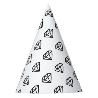 Gorro De Fiesta Versión blanco y negro del diamante