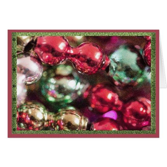 Gotas coloridas del navidad tarjeta de felicitación