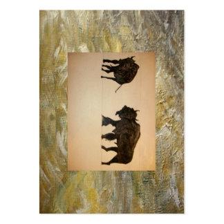 Gotas de jarabe de arce tarjetas de visita grandes