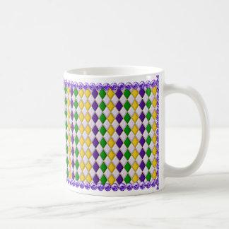 Gotas de la taza w/Purple del modelo del Harlequin