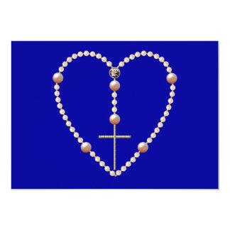 """""""Gotea"""" el rosario en forma de corazón Invitación 12,7 X 17,8 Cm"""