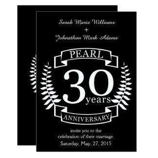 Gotee el trigésimo aniversario de boda 30 años invitación 12,7 x 17,8 cm