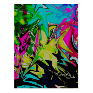 Goteo fundido abstracto oscuro del color postal