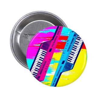 Goteo retro de la pintura de Keytar de los años 80 Pin