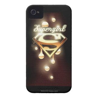 Goteos del oro de Supergirl Case-Mate iPhone 4 Coberturas