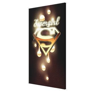 Goteos del oro de Supergirl Lona Envuelta Para Galerías