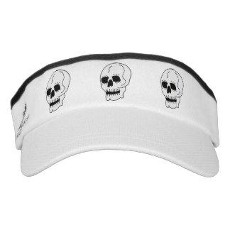 Gótico clásico blanco de Halloween del cráneo Visera