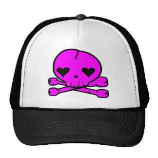 Gótico extraño Kawaii StyPINK del cráneo Gorras
