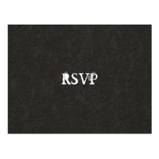 Gótico negro RSVP agrietado Postal