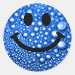 Gotitas de agua sonrientes pegatina