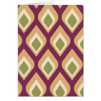 Gotitas púrpuras, verdes y amarillas tarjeta de felicitación