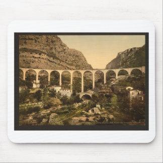 Gourdon, garganta del lobo, el puente, Grasse, fra Alfombrilla De Ratones