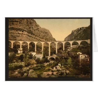 Gourdon, garganta del lobo, el puente, Grasse, fra Tarjeta De Felicitación