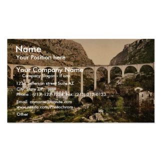 Gourdon, garganta del lobo, el puente, Grasse, fra Tarjeta De Visita
