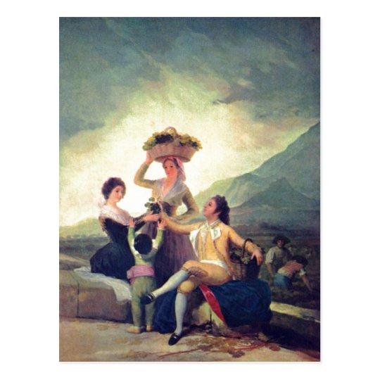 Goya y Lucientes, Francisco de Weinlese The Vintag Postal