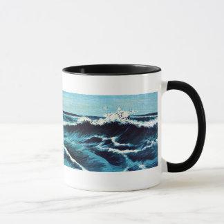 Grabado de la onda del japonés - taza de café del