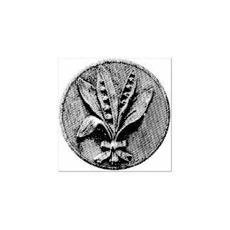 Grabado del lirio de los valles sello de caucho