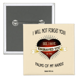 Grabado en las palmas de las manos de dios, chapa cuadrada