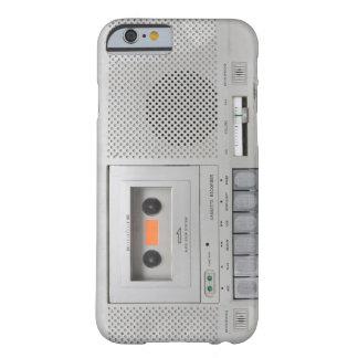 Grabadora del vintage funda de iPhone 6 barely there