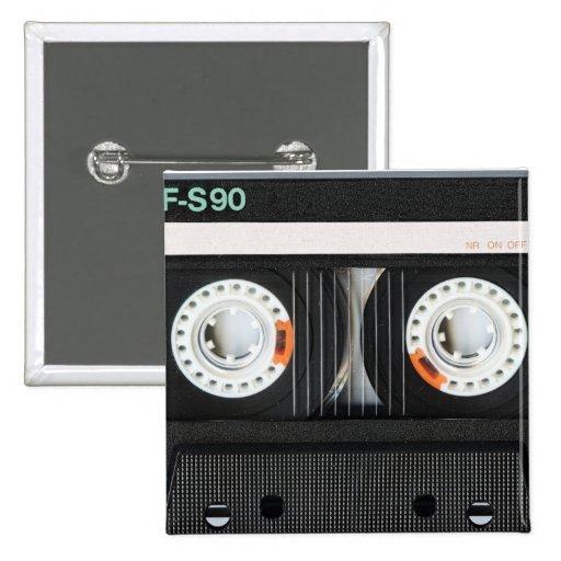 Grabadora retra de cinta del vintage 70s 80s pins
