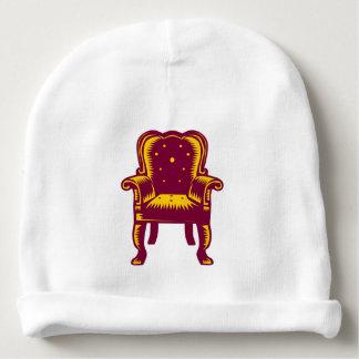 Grabar en madera magnífico barroco de la silla del gorrito para bebe
