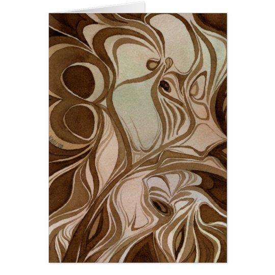 Grabar en madera Notecard Tarjeta De Felicitación