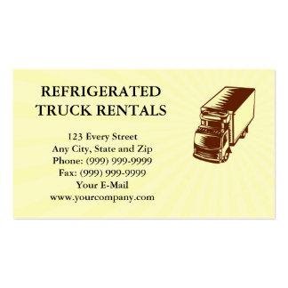Grabar en madera refrigerado del camión de la tarjetas de visita