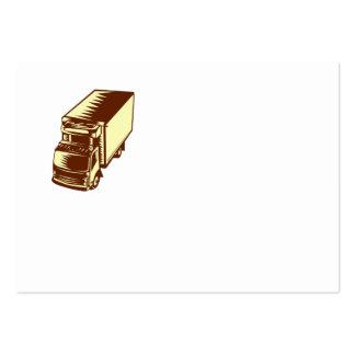 Grabar en madera refrigerado del camión tarjetas de visita grandes