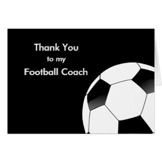 Gracias a mi fútbol y al entrenador de fútbol tarjeta de felicitación