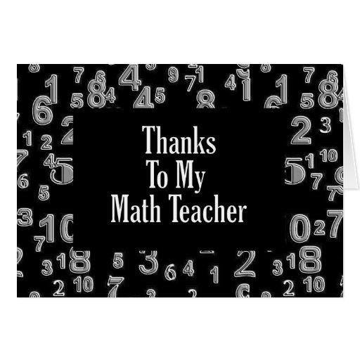 Gracias a mi profesor de matemáticas tarjeton
