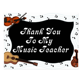 Gracias a mi profesor de música postal