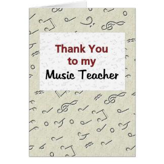 Gracias a mi profesor de música tarjeta