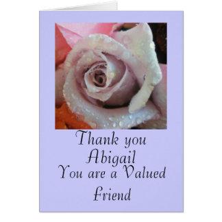 Gracias a una tarjeta de felicitación subió del