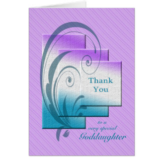 Gracias ahijada, con rectángulos elegantes tarjeta