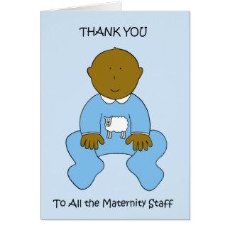 Gracias al personal de maternidad tarjeta de felicitación